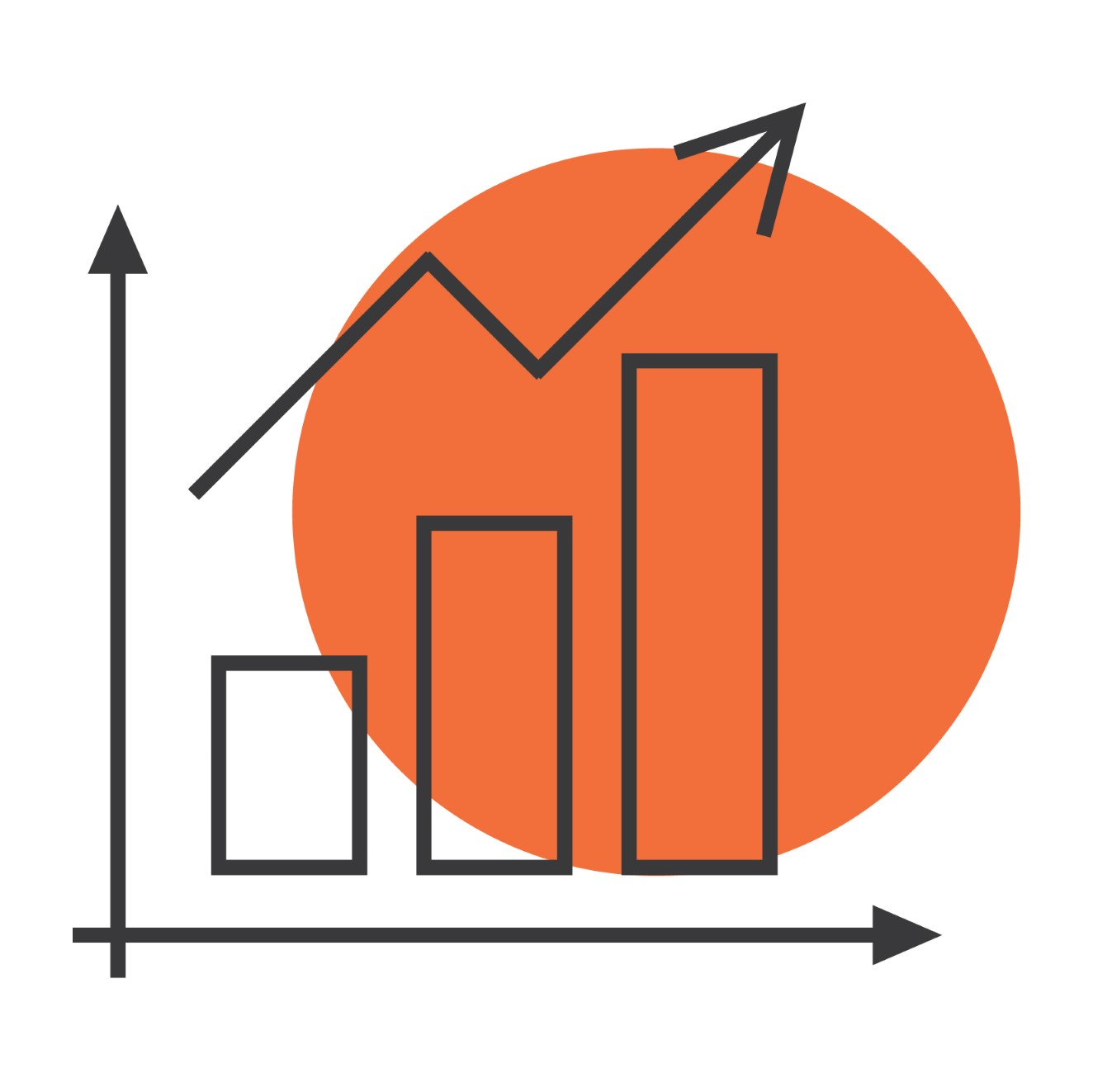 financial chart icon