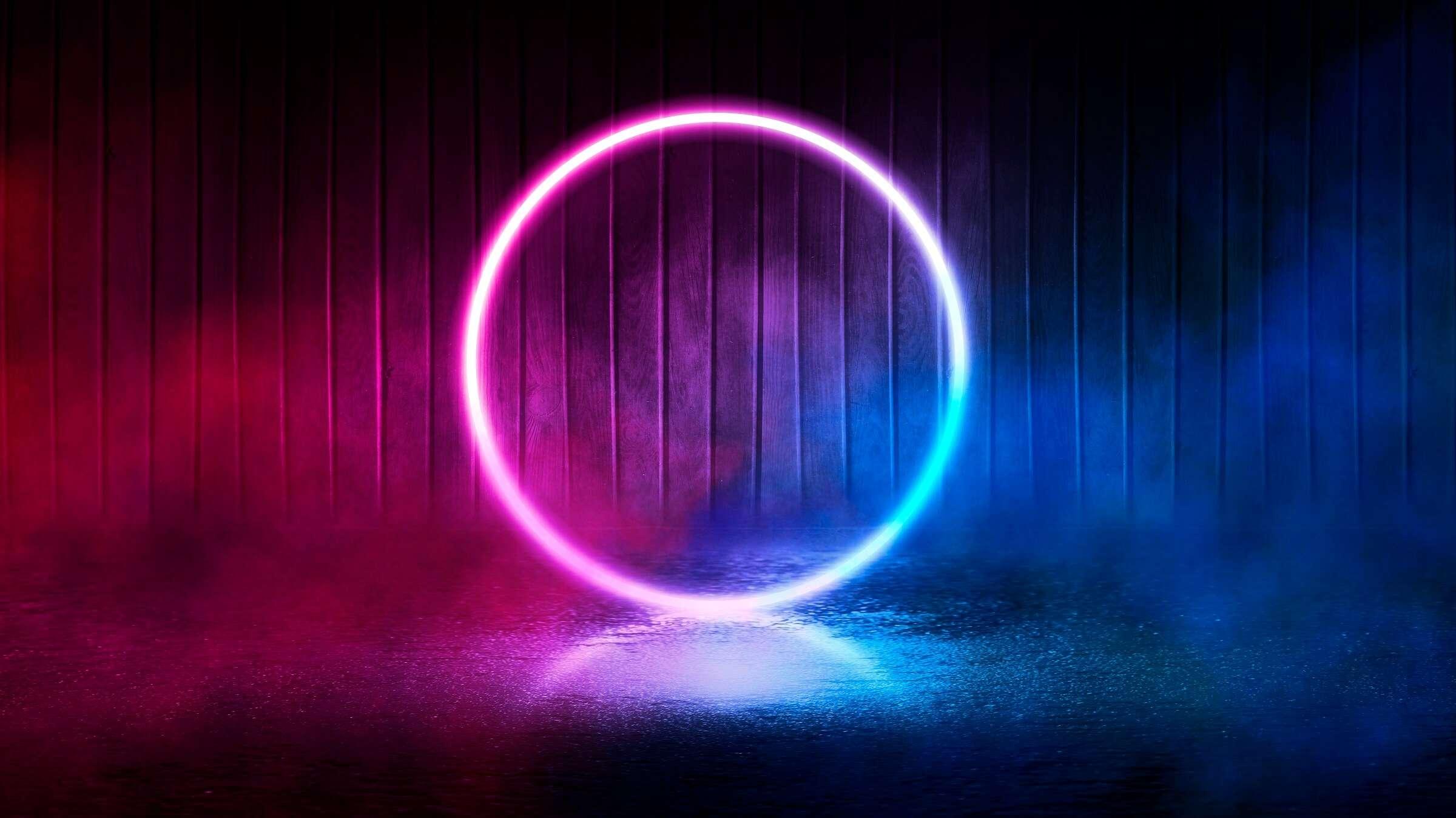 purple blue neon circle design Επαγγελματικά Σεμινάρια Adobe After Effects